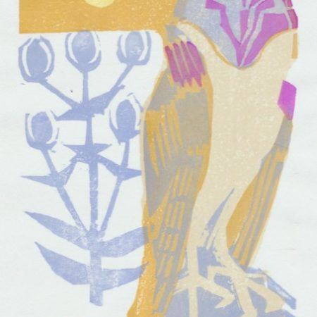 """Midwinter"" woodblock print by Matt Underwood"