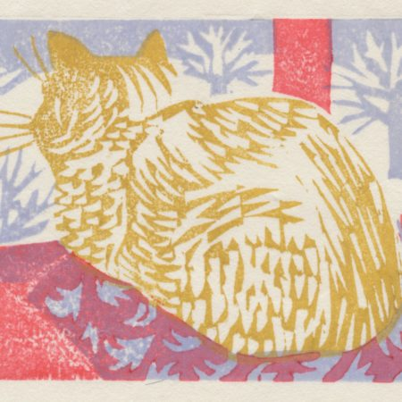 """Winter Night"" woodblock print by Matt Underwood"